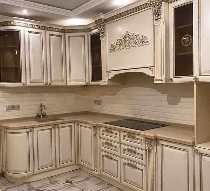 кухни в классическом стиле белые со столешницей