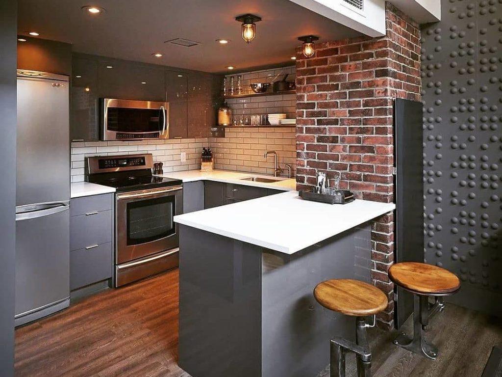 кухни в стиле лофт в доме