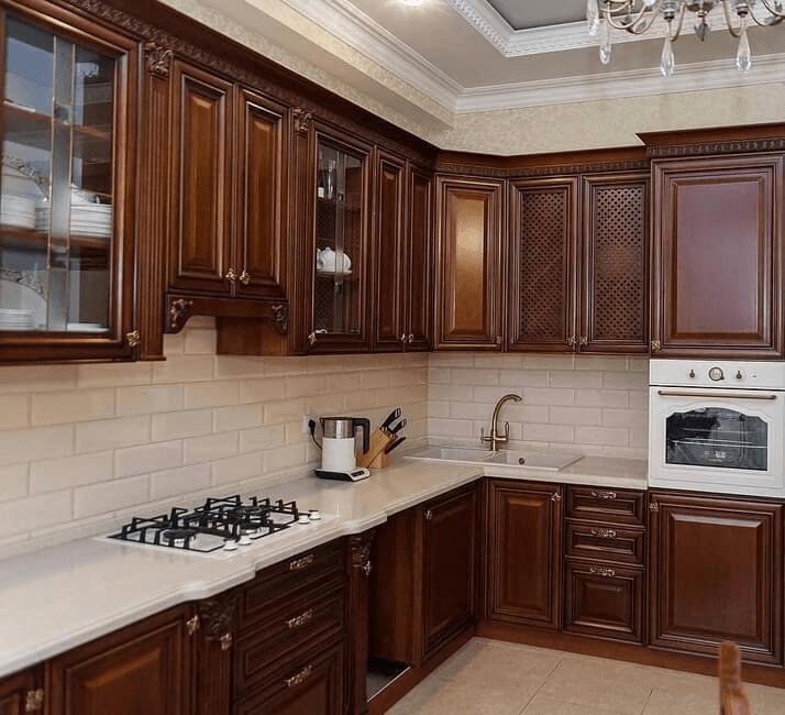 темные кухни в классическом стиле