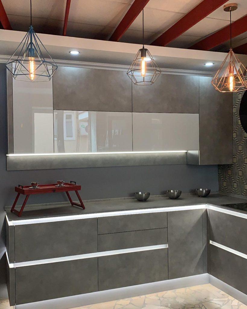 кухни в стиле лофт для квартиры примеры
