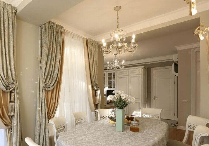 стол дизайн кухни в классическом стиле