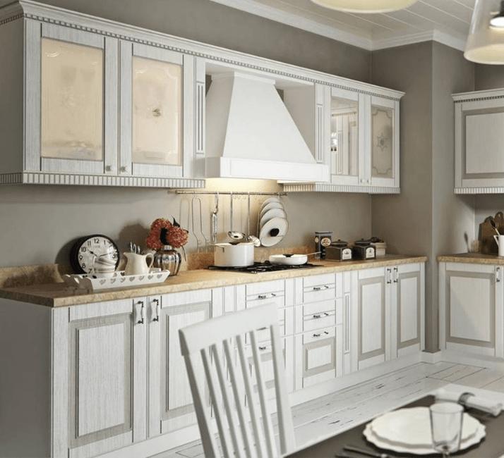 кухни в стиле прованс с деревянной столешницей