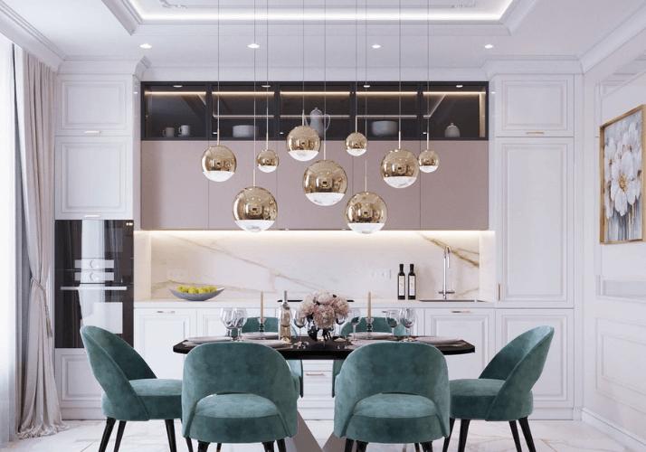 лампы кухни в стиле неоклассика