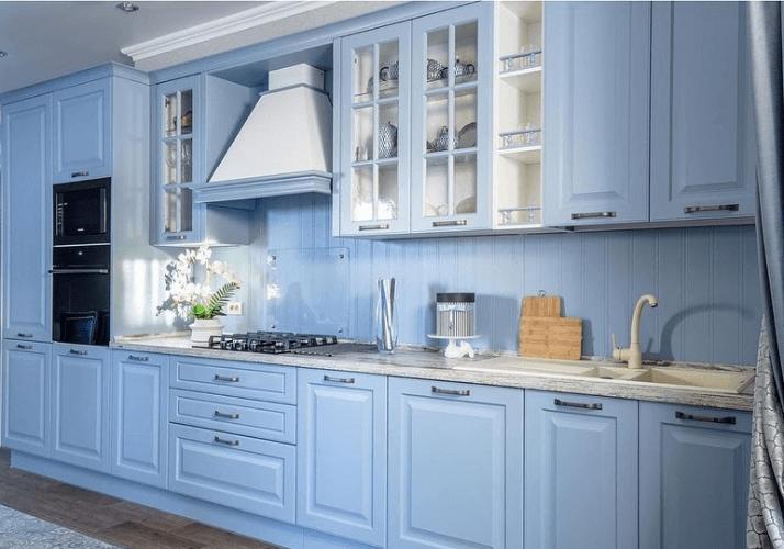 кухни в стиле прованс голубой цвет кухни