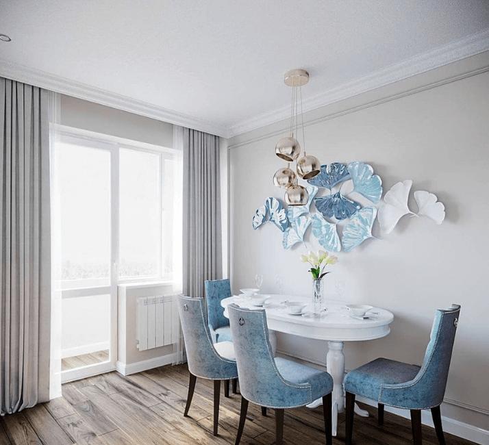 кухни в стиле неоклассика дизайн стен