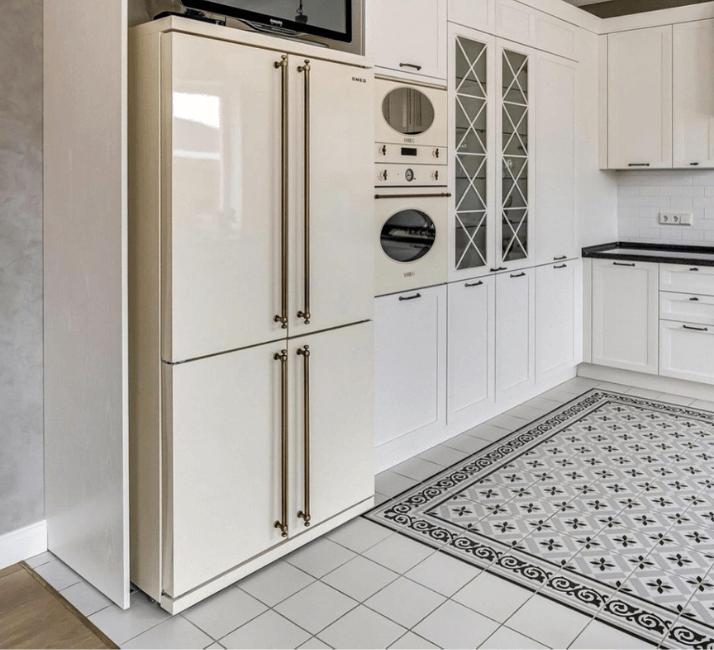 кухни в стиле неоклассика фото полов