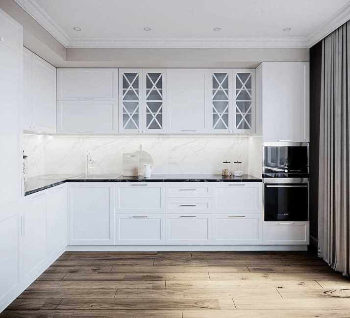 ламинат для кухни в стиле неоклассика