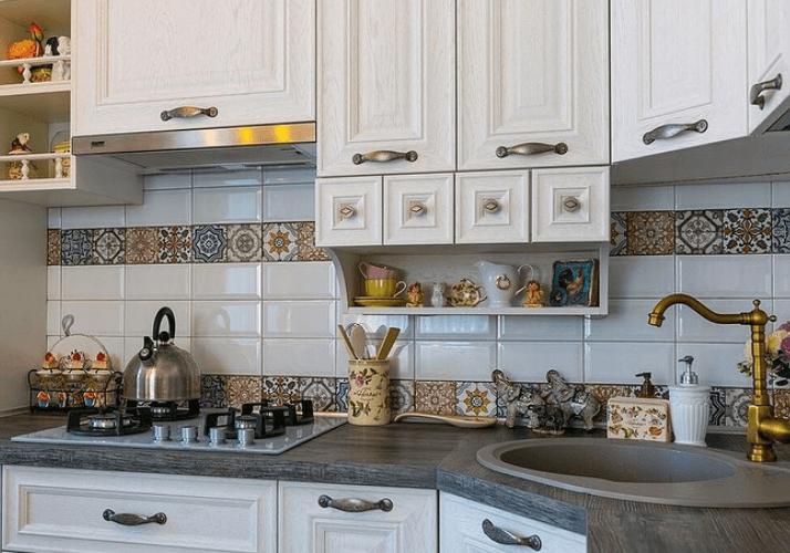 плитка пэчворк кухни в стиле прованс