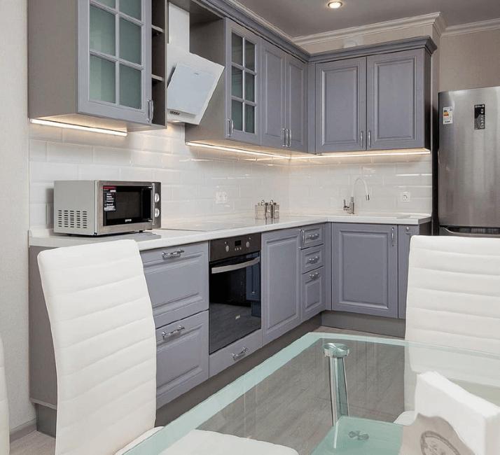 бело-серые кухни фото дизайна