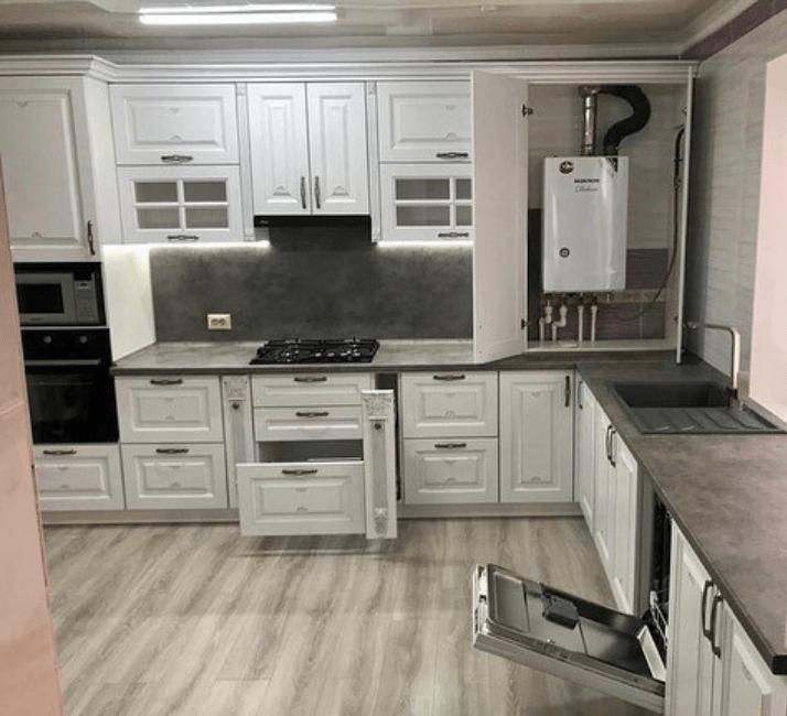 кухни в стиле неоклассика паркет для пола