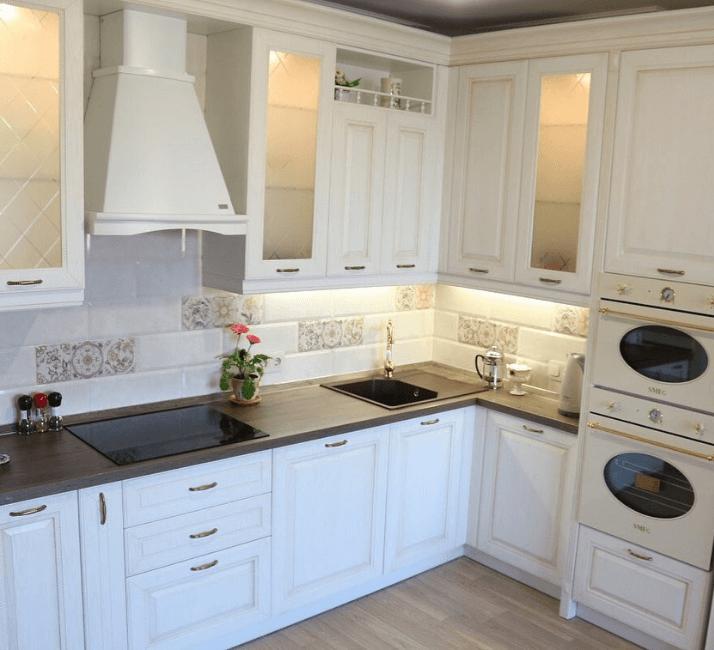 прованс белая кухня фото