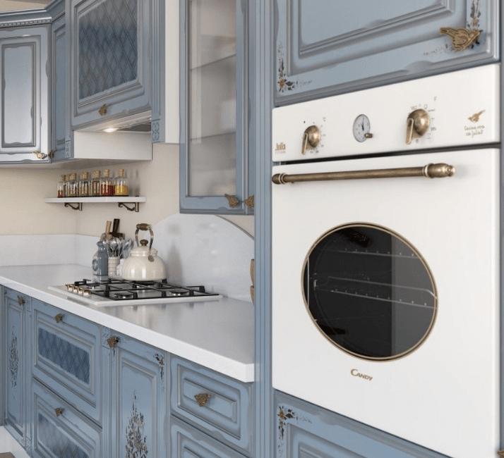 встроенная мебель интерьера прованс кухни