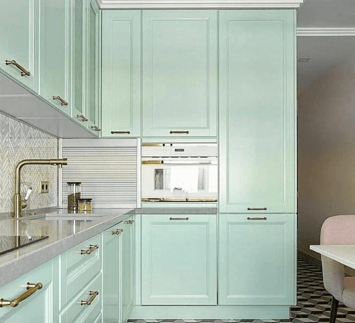 кухня фисташковая современная фото дизайна
