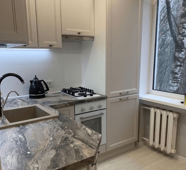 кухни в стиле неоклассика фото проекта интерьера