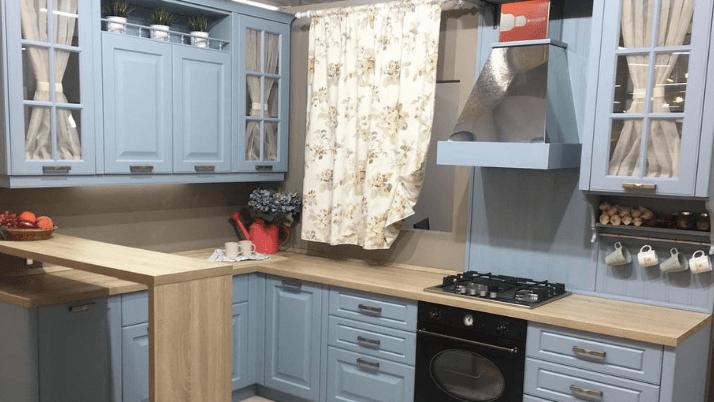 коротки занавески кухни прованс