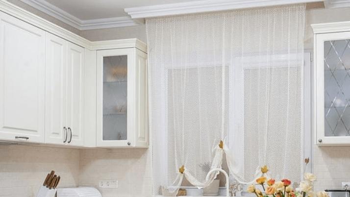 занавески прованс кухня