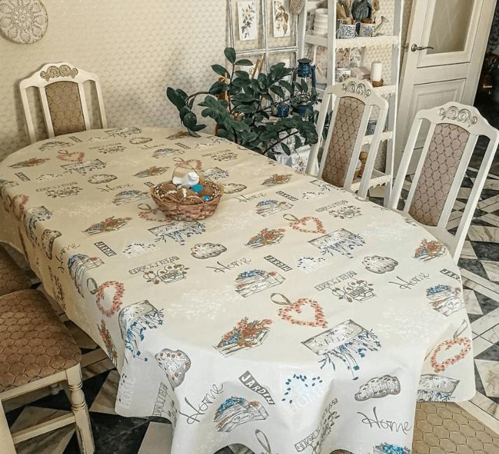 скатерть на столе прованс кухня