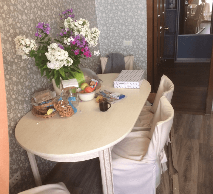 прованс стол с цветами