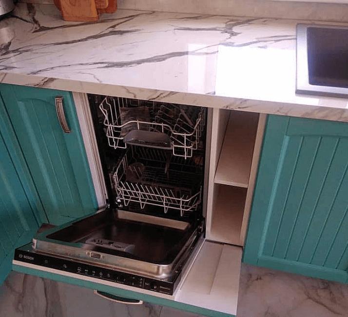 столешница из кварца кухни в стиле прованс