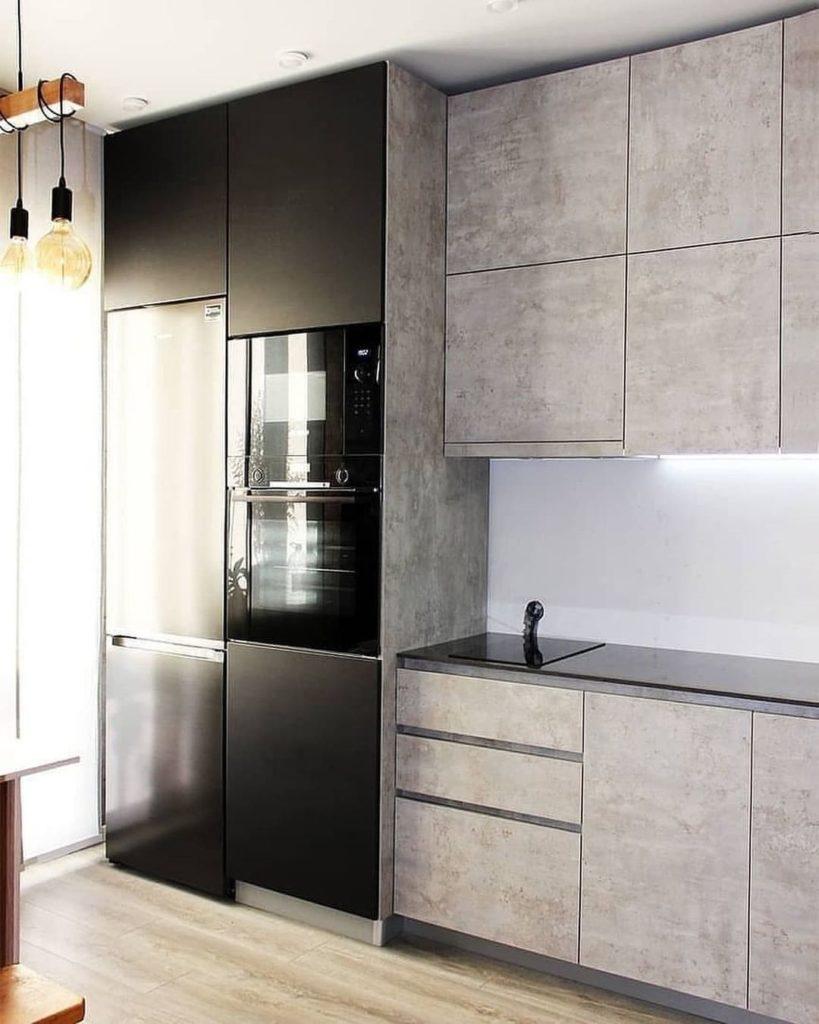 кухня в стиле лофт проект для дома