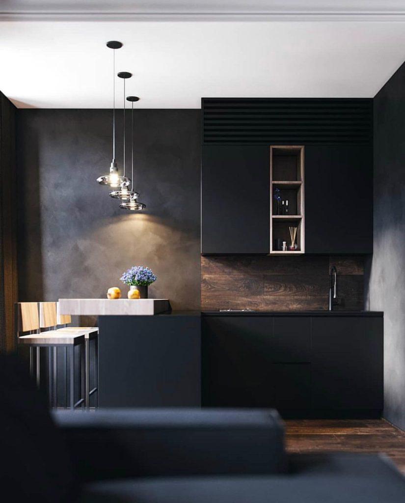 кухня лофт светильники