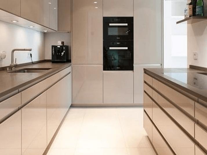 как правильно спланировать кухню двухрядная