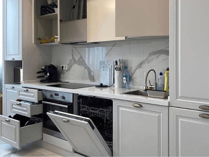 посудомойка встроенная проект кухни
