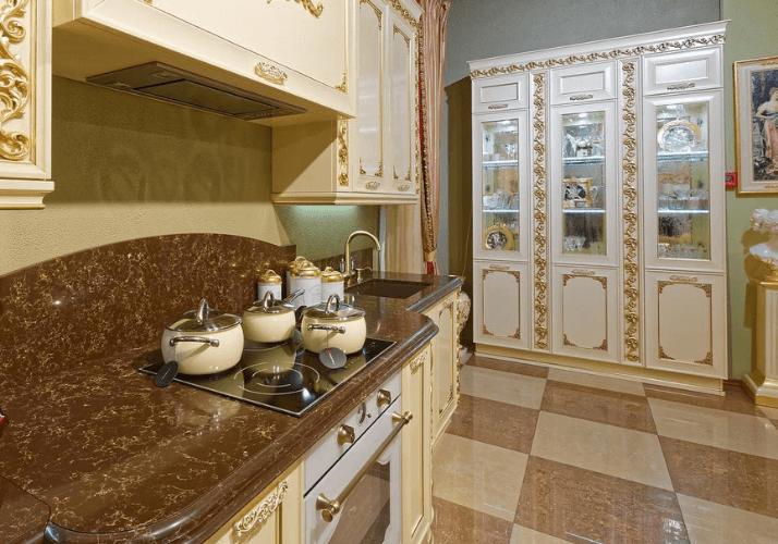какую столешницу выбрать для классической кухни