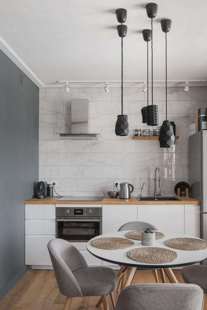 лофт светильники и кухня со столом