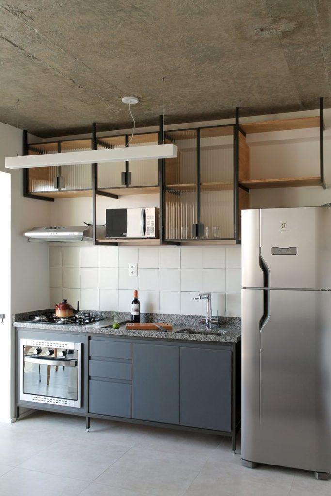 стальные полки лофт кухня