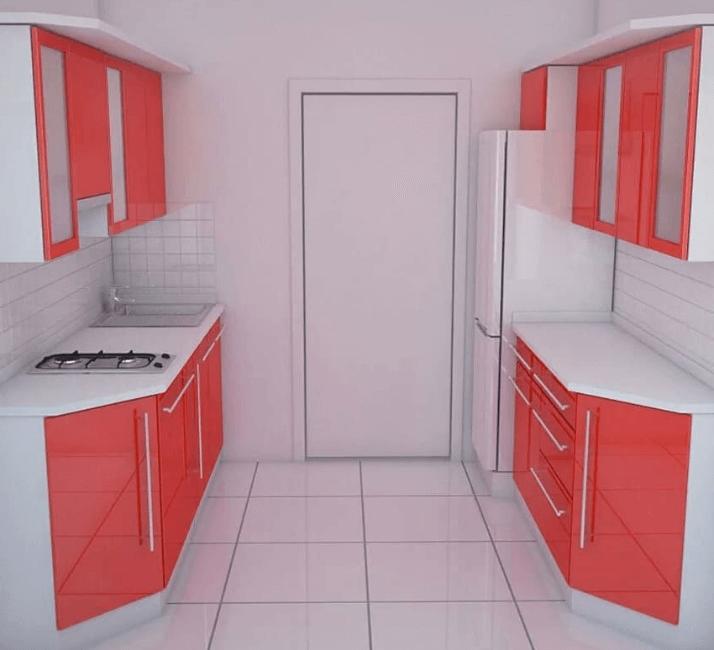 как правильно спланировать кухню в два ряда