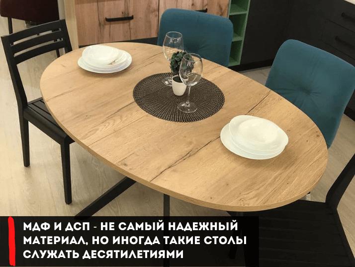 столы из МДФ овальный