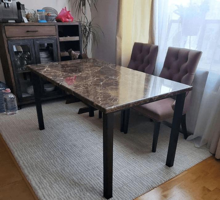 мраморный обеденный стол