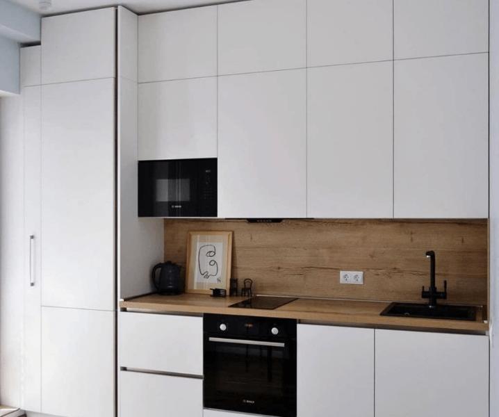 красивая белая кухня матовая