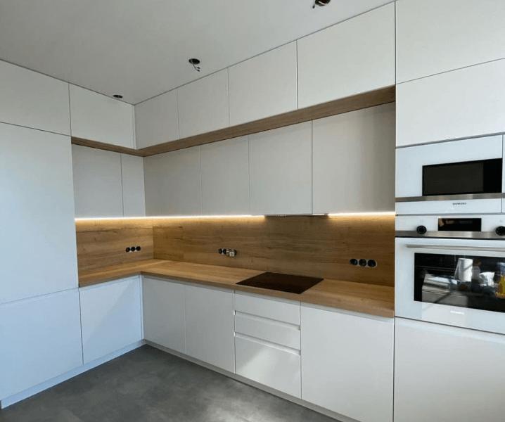 суперский дизайн белой кухни