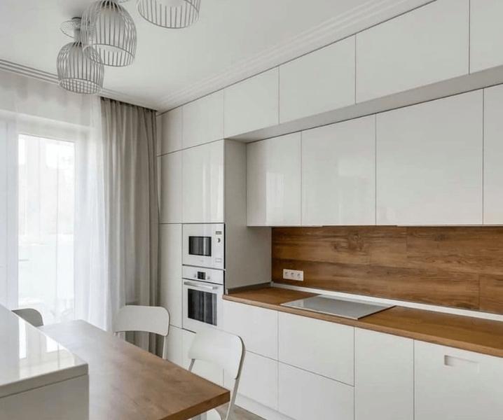 белая красивая стильная кухня