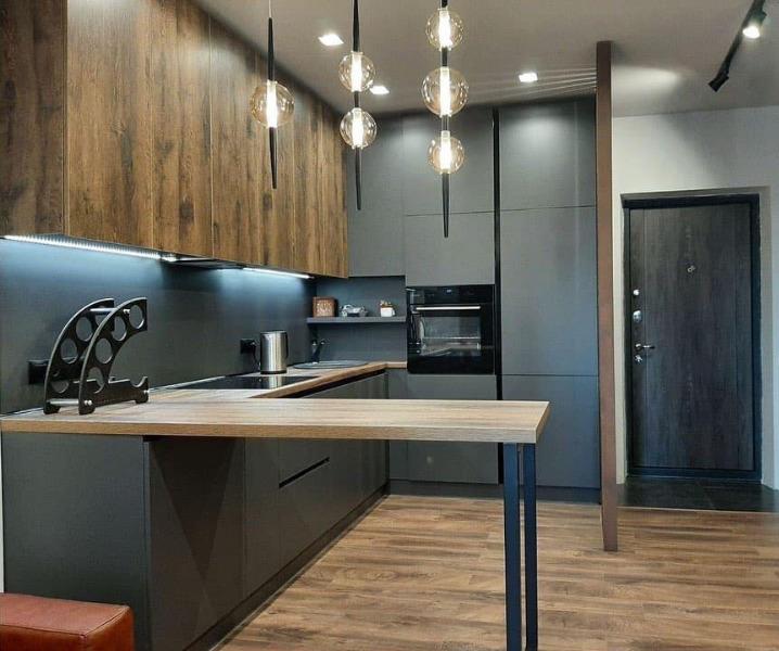 кухня со светильниками дизайн