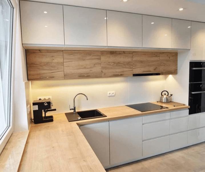 глянцевая кухня белая красота