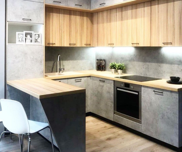 Дизайн современной кухни с барной стойкой интересный проект