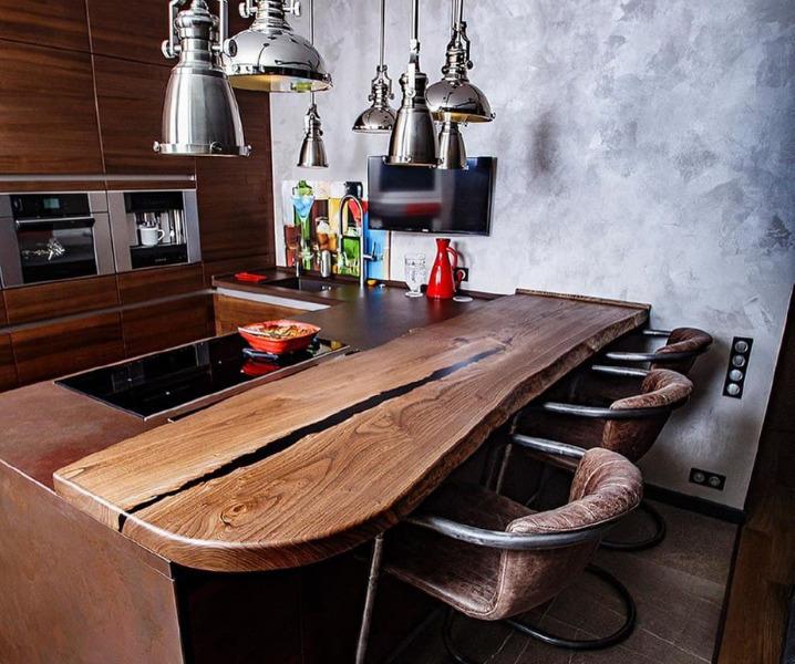 кухня со столешницей винтажная