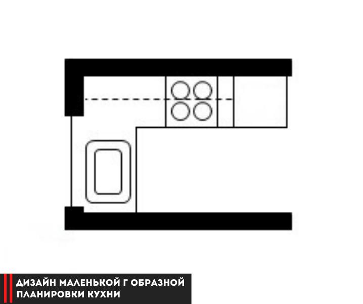 г образная планировка кухни для маленькой кухни