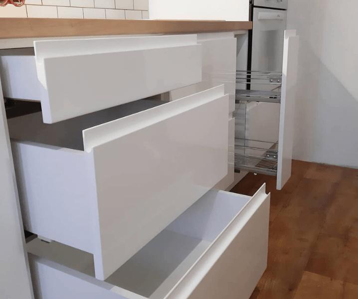 Создание проекта кухни выдвижные ящики