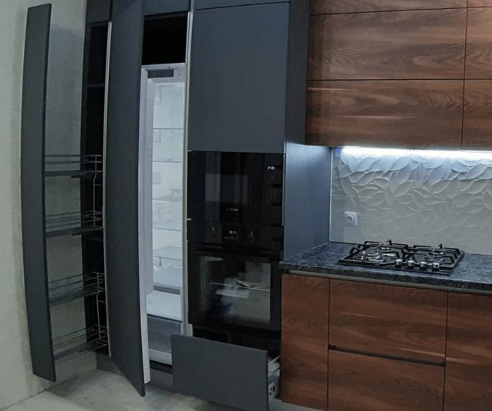 Создание проекта кухни встроенный холодильник