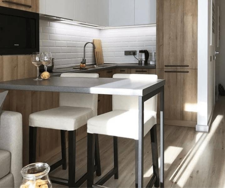 Какая высота барной стойки для кухни со стульями