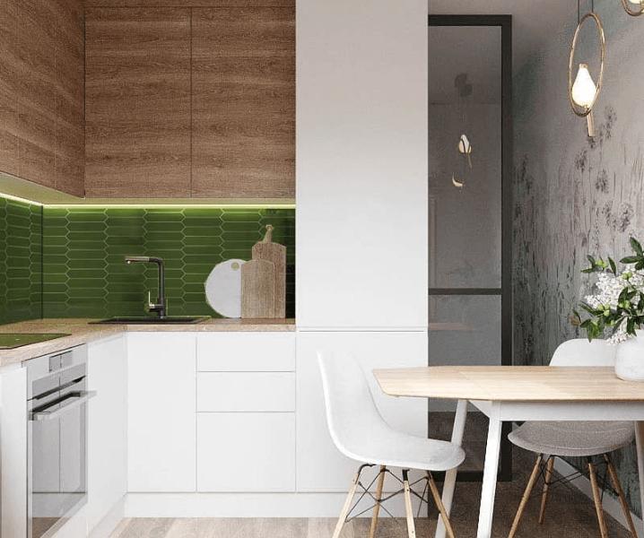 эко-стиль кухня современная угловая белая
