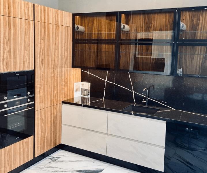 эко-стиль кухня современная угловая деревянная