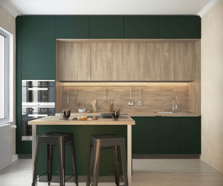 Современные кухни в зеленом стиле фото