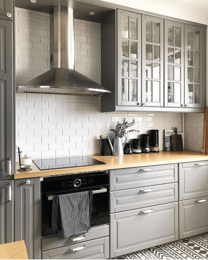 скандинавская серая кухня
