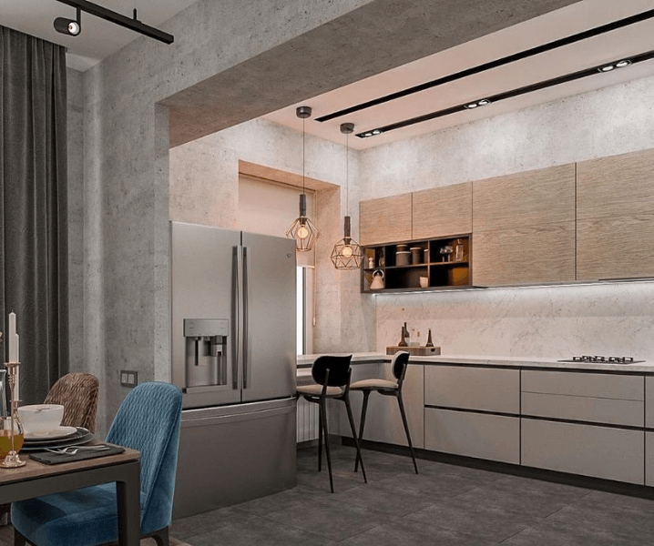 кухня лофт из бетона